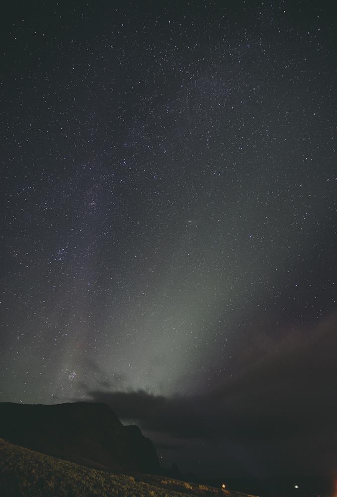Formación de la aurora boreal.