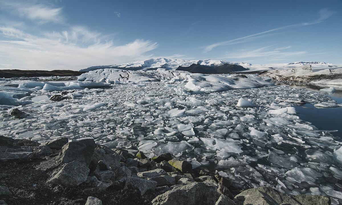 Laguna glaciar Jökulsárlón.